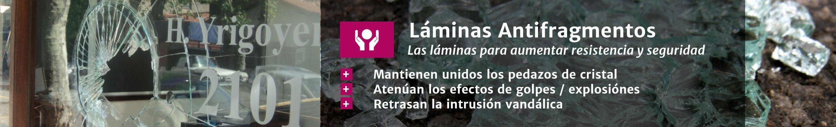 Láminas antifragmentos en Laminotech