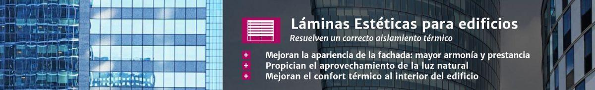 Láminas estéticas para edificios en Laminotech