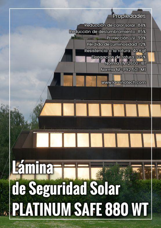 Lámina de seguridad-solar combinada Platinum Safe 880 WT