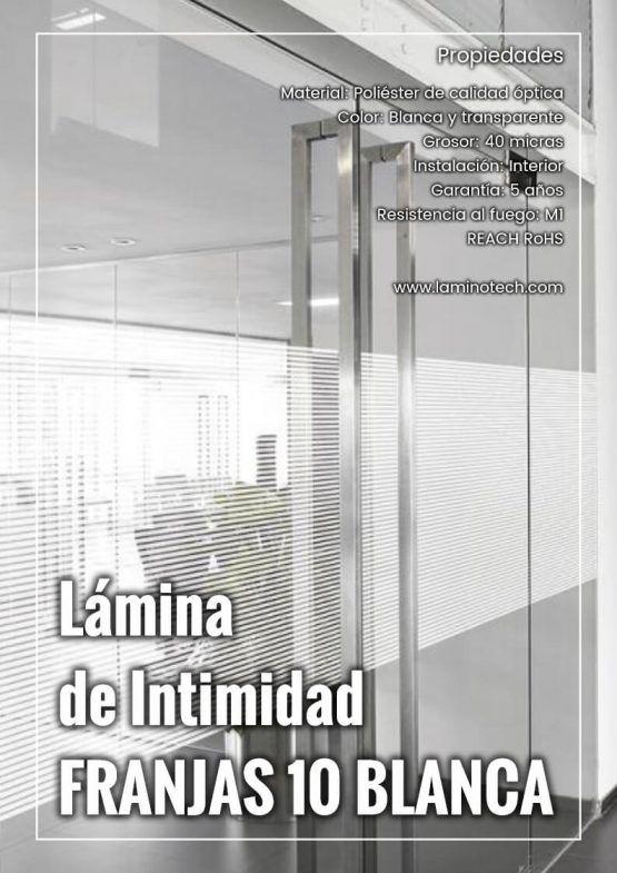 Lámina de Intimidad Franjas 10 Blanca