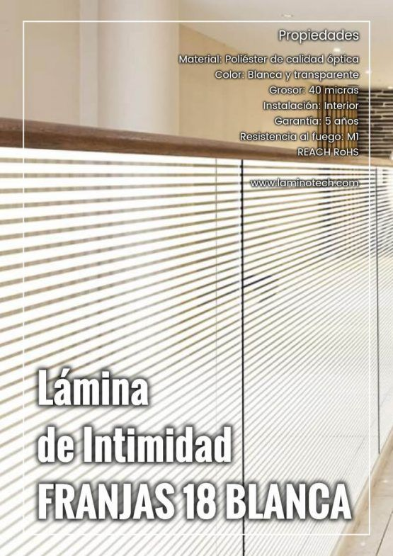 Lámina de Intimidad Franjas 18 Blanca