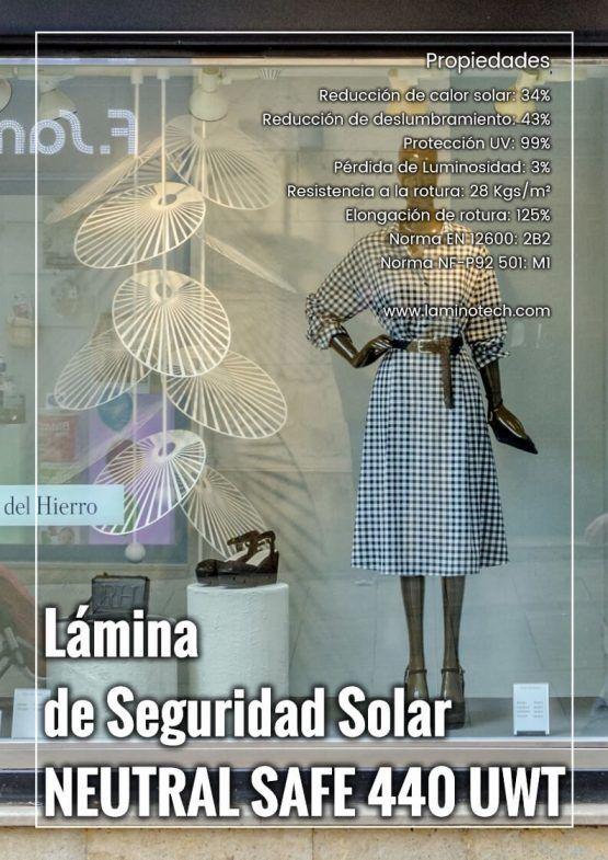 Lámina solar-seguridad combinada Neutral Safe 440 UWT