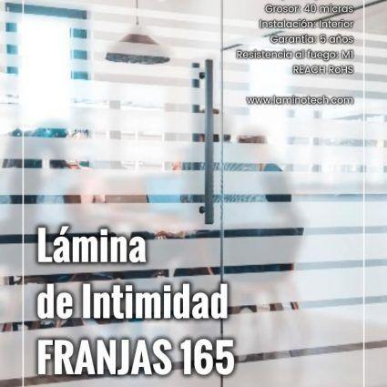 Lámina de Intimidad Franjas 165 Degradado Mate