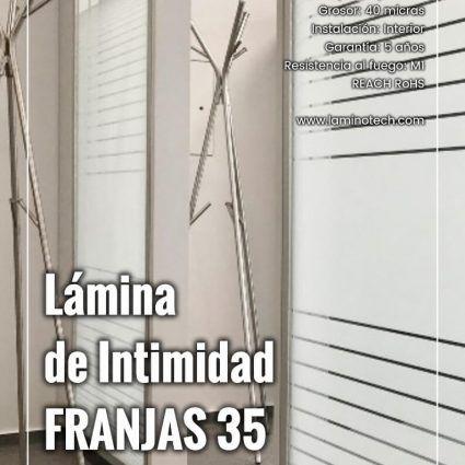 Lámina de Intimidad Franjas 35 Degradado Mate