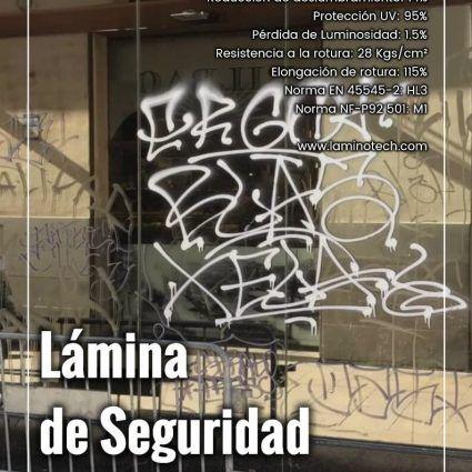 Lámina Antigrafiti Secure 100 LTX